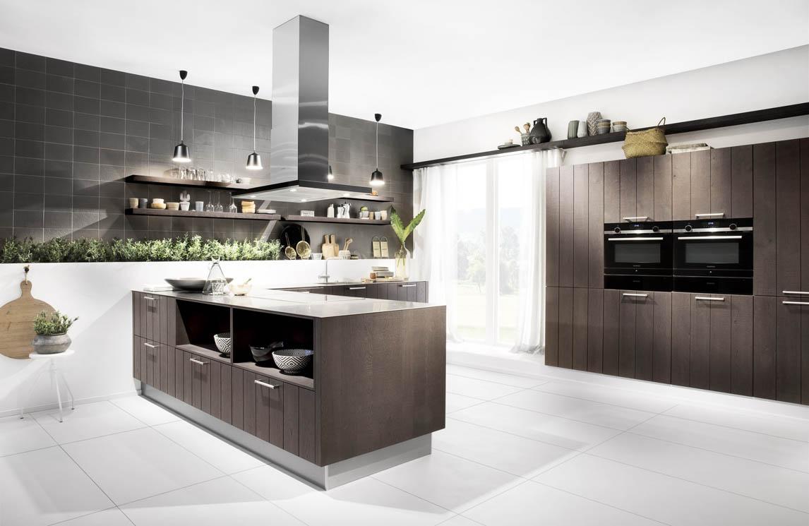 Wandplank Keuken Landelijk.Scheffer Keukens Av 6021 Eiken Mokka Porien