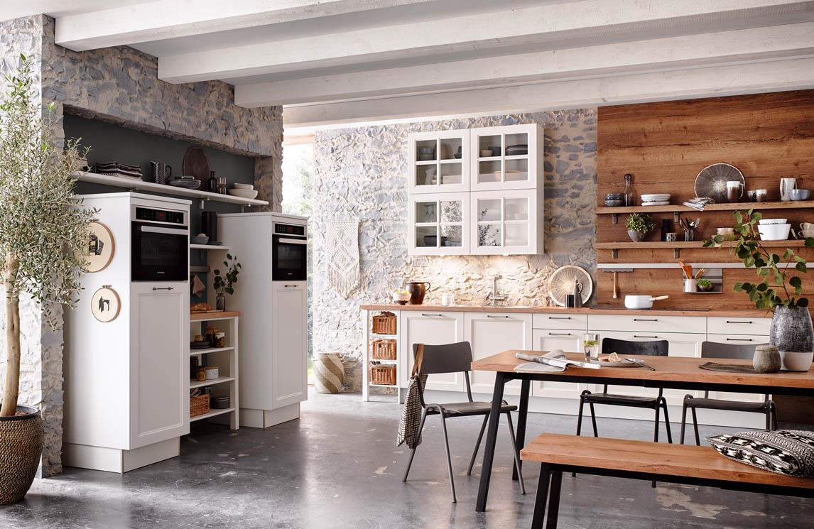 Wandplank Keuken Landelijk.Scheffer Keukens Malaga Wit