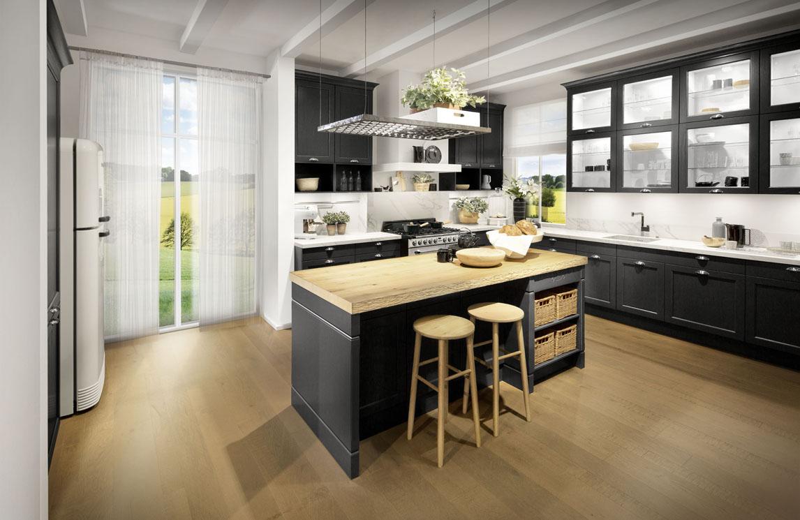 Houten Werkblad Keuken.Scheffer Keukens Bristol Grafiet