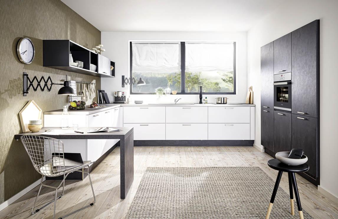 Keuken Beton Moderne : Scheffer keukens uno polarwit & comet geplamuurde beton grafiet